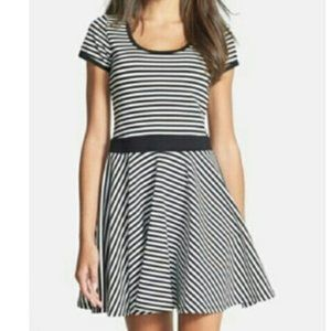 Felicity and Coco Striped Flare Dress.  SZ S